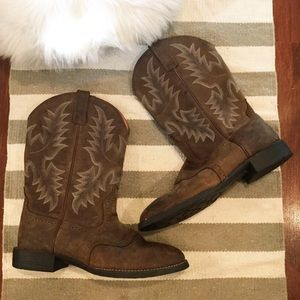 Ariat Heritage Stockman Western Boots Brown